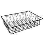 GET WB-954-BK POP Black Wire Pastry Basket - 18 inch x 12 inch x 4 inch