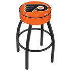 Holland Bar Stool L8B130PhiFly-O Philadelphia Flyers Single Ring Swivel Bar Stool with 4 inch Padded Seat