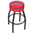 Holland Bar Stool L8B130WshCap Washington Capitals Single Ring Swivel Bar Stool with 4 inch Padded Seat