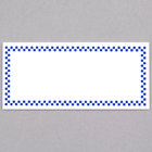 Rectangular Write On Deli Tag with Blue Checkered Border