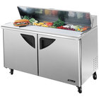 Turbo Air TST-60SD 60 inch Super Deluxe Two Door Refrigerated Sandwich / Salad Prep Table