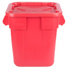 Rubbermaid BRUTE 28 Gallon Square Red Trash Can and Snap-Lock Lid