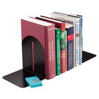 Steelmaster 241017104 5 9/10 inch x 5 inch x 7 inch Black Fashion Bookends Pair
