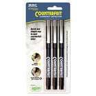 MMF Industries 200045304 Counterfeit Currency Detector Pen   - 3/Pack