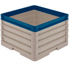 Vollrath CR1AAAA-32944 Traex® Full-Size Beige 11 1/2 inch Open Rack with Closed Sides - 3 Beige Extenders, 1 Royal Blue Extender