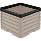 Vollrath CR1AAAAA-32906 Traex® Full-Size Beige 13 1/2 inch Open Rack with Closed Sides - 4 Beige Extenders, 1 Black Extender