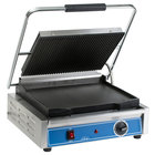 Globe GPGS1410 Panini Grill with Grooved Top and Smooth Bottom - 120V, 1800W