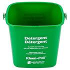 San Jamar KP256GN 8 Qt. Green Cleaning Kleen-Pail