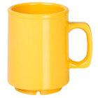 Thunder Group CR9010YW 8 oz. Yellow Melamine Mug - 12/Pack