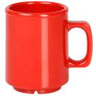 Thunder Group CR9010PR 8 oz. Pure Red Melamine Mug - 12/Pack