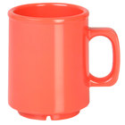 Thunder Group CR9010RD 8 oz. Orange Melamine Mug - 12/Pack