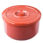 72 oz. Red Plastic Rice Container with Lid