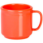 Thunder Group CR9035RD 10 oz. Orange Melamine Mug - 12/Pack