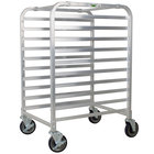 Regency 10 Pan End Load Half Height Bun / Sheet Pan Rack - Assembled