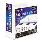 find It SNS01703 White View Binder with 4 inch Gapless Loop Rings