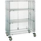 Metro SEC66EC Mobile Standard Duty Wire Security Cabinet - 65 inch x 33 1/2 inch x 68 1/2 inch