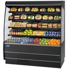 Federal Industries RSSM-478SC Black 47 1/4 inch High Profile Four Shelf Air Curtain Merchandiser