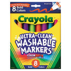 Crayola 587832 Ultra-Clean Assorted 8 Bold Color Broad Point Washable Marker Set