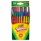 Crayola 529724 Assorted 24 Color Twistable Mini Size Crayon Box