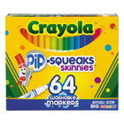 Crayola 588764 Pip-Squeaks Skinnies 64 Assorted Washable Markers