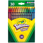 Crayola 687409 Twistables 30-Color Assorted 2mm Colored Pencil Set - 30/Pack