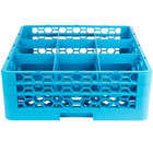 Carlisle RG9-214 OptiClean 9 Compartment Glass Rack with 2 Extenders