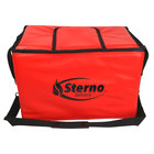 Sterno 70542 Red Large Stadium Insulated Food Carrier, 22 inch x 13 inch x 14 inch - Holds (90) Hot Dogs