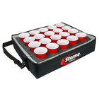 Sterno Products 70544 24 inch x 20 inch x 6 inch Stadium Insulated Drink Carrier with 20 Hole Insert - Holds (20) Cups
