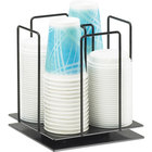 Cal-Mil 1212-4 Iron Rotating Lid / Cup Organizer - 8 1/4 inch x 8 1/4 inch x 9 1/4 inch