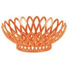 GET OB-940-RO Rio Orange Oval 10 inch x 8 1/4 inch Plastic Fast Food Basket - 12/Pack