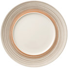 Villeroy & Boch 16-4021-2796 Amarah 11 1/4 inch Taupe Porcelain Flat Coupe Plate with 7 inch Well - 6/Case