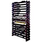 Franmara WM168-S Modularack Pro 168 Bottle Stained Wall Mount Wooden Modular Wine Rack