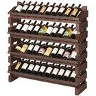 Franmara FD40-S Modularack Pro Full Display 40 Bottle Stained Wooden Modular Wine Rack