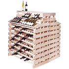 Franmara WFG408DX-N Modularack Pro Waterfall Deluxe Gondola 408 Bottle Natural Wooden Modular Wine Rack