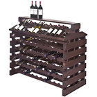 Franmara IF144DX-S Modularack Pro Island Deluxe 144 Bottle Stained Wooden Modular Wine Rack