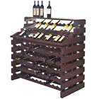 Franmara WF156DX-S Modularack Pro Waterfall Deluxe 156 Bottle Stained Wooden Modular Wine Rack