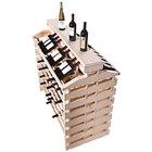 Franmara IF168DX-N Modularack Pro Island Deluxe 168 Bottle Natural Wooden Modular Wine Rack