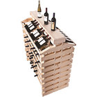 Franmara IF192DX-N Modularack Pro Island Deluxe 192 Bottle Natural Wooden Modular Wine Rack