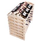 Franmara IF168-N Modularack Pro Island 168 Bottle Natural Wooden Modular Wine Rack