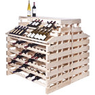 Franmara WFG312DX-N Modularack Pro Waterfall Deluxe Gondola 312 Bottle Natural Wooden Modular Wine Rack