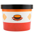 Choice 64 oz. Soup Design Double Poly-Coated Paper Soup / Hot Food Cup with Paper Lid - 250/Case