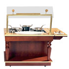 Bon Chef 50171 48 inch x 32 inch x 34 inch Holding and Warming Cart