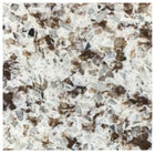 Art Marble Furniture Q411 36 inch x 36 inch Chocolate Blizzard Quartz Tabletop