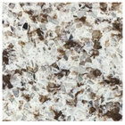 Art Marble Furniture Q411 30 inch x 30 inch Chocolate Blizzard Quartz Tabletop