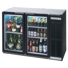 Beverage Air BB48GSY-1-SS-PT-LED-WINE 48 inch Black Pass-Through Sliding Glass Door Narrow Back Bar Wine Refrigerator