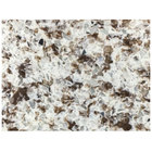 Art Marble Furniture Q411 30 inch x 42 inch Chocolate Blizzard Quartz Tabletop