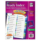 Avery 11321 Ready Index 24-Tab Double-Column Multi-Color Table of Contents Dividers