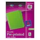 Avery 11331 Pre-Printed 12-Tab Multi-Color Jan-Dec Plastic Dividers