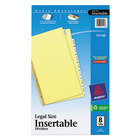 Avery 11116 Legal Size Buff Paper 8-Tab Clear Insertable Dividers