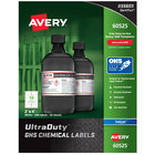 """Avery 60525 UltraDuty 2"""" x 4"""" GHS Chemical Labels for Pigment-Based Inkjet Printers - 500/Pack"""